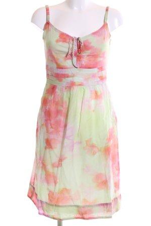 Luisa Cerano Trägerkleid grün-pink abstraktes Muster Casual-Look