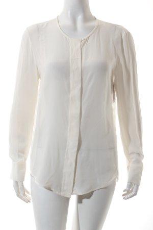 Luisa Cerano Transparenz-Bluse wollweiß schlichter Stil