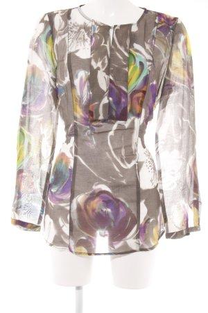 Luisa Cerano Tunikabluse abstraktes Muster extravaganter Stil