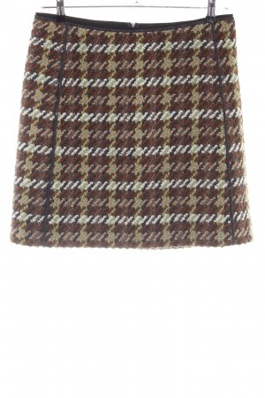 Luisa Cerano Tweed rok geruite print casual uitstraling
