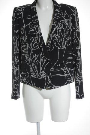 Luisa Cerano Unisex-Blazer weiß-dunkelblau florales Muster Business-Look