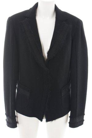 Luisa Cerano Blazer en laine noir style d'affaires