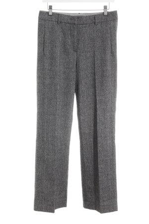 Luisa Cerano Pantalon en laine noir-gris moucheté style d'affaires