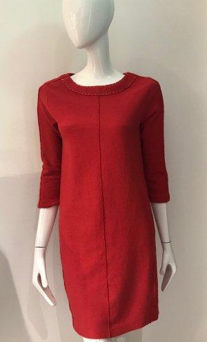 Luisa Cerano Wollen jurk zalm Scheerwol