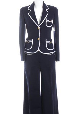 Luisa Spagnoli Hosenanzug weiß-dunkelblau Marine-Look