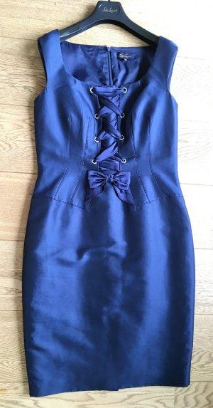 """* LUISA SPAGNOLI """" NEU ! MIDI Kleid SEIDE BAUMWOLLE blau"""