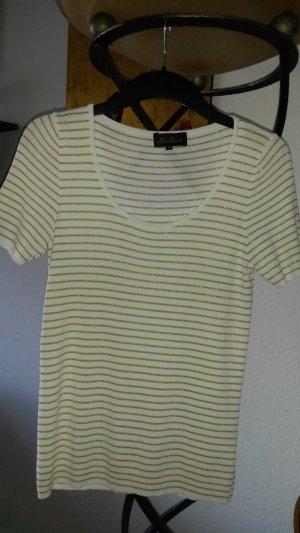 Luisa Spagnoli Geribd shirt wit-goud Viscose
