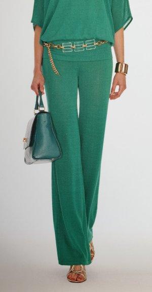 Luisa Spagnoli Pantalon palazzo bleu cadet-vert