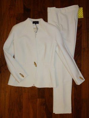 Luisa Spagnoli Pantalon de costume blanc-blanc cassé