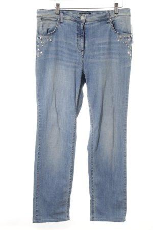 Luisa Viola Boot Cut Jeans himmelblau Metallelemente