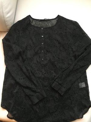 LUKZUZ transparentes Shirt mit Ausbrennmuster, Gr. 42, NEU und ungetragen
