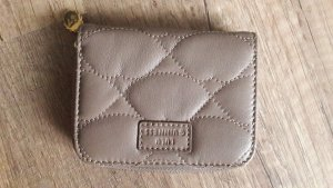 Lulu Guiness Geldbeutel Geldbörse Portemonnaie Stepp Taupe gesteppt mud mini