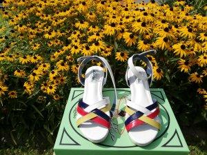 Lulu H Wedge Sandals multicolored imitation leather