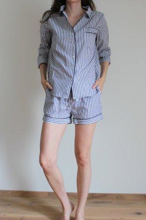 LuLu's Pyjama wit-blauw