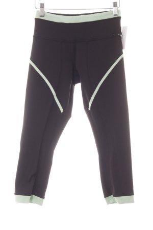 Lululemon athletica Pantalone da ginnastica nero-menta stile atletico