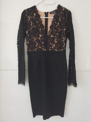 Lulus Kleid Spitze Schwarz S