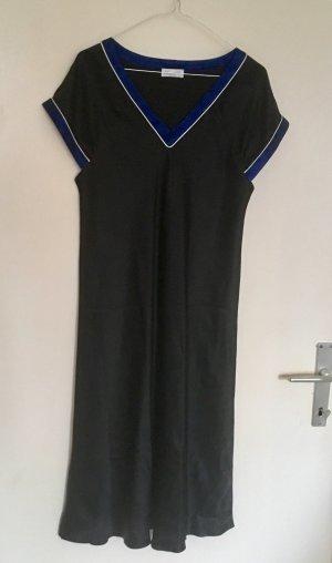 Pyjama noir-bleu foncé soie