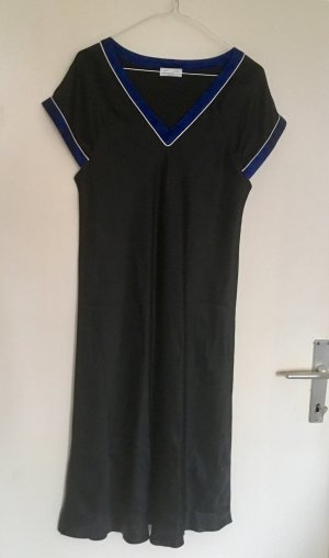 Pijama negro-azul oscuro Seda