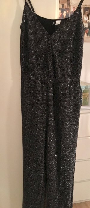 H&M Divided Onesie silver-colored-black