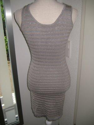 Lurex Kleid Silber Gr S