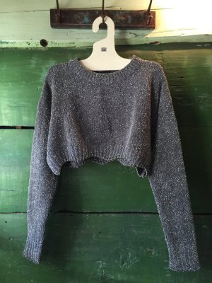 Zara Pull tricoté gris ardoise