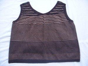 Camisa tejida marrón oscuro-marrón claro lúrex