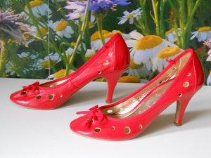 Lustige knallrote Vintage High Heels Gr. 39