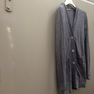 LUX URBAN OUTFITTERS cardigan jersey oversized grau Gr.L