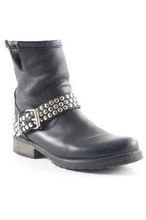 Luxe Ankle Boots black biker look