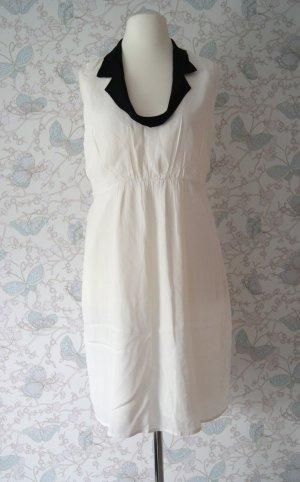 Luxe by Vila Clothes Kleid, naturweiß/schwarz, Gr. L NEU