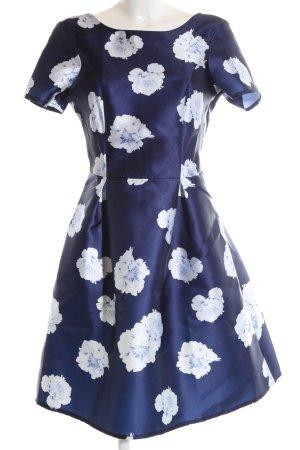 Dorothy Perkins Kurzarmkleid blau-weiß Allover-Druck Elegant
