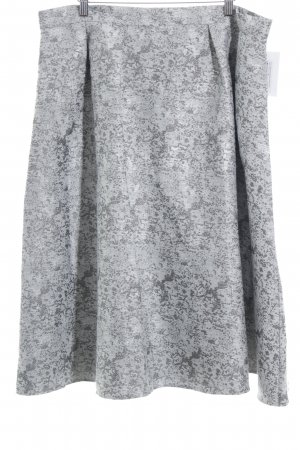 Luxe Circle Skirt light grey-silver-colored flecked glittery