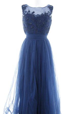 Luxuar Limited Abendkleid dunkelblau-schwarz Blumenmuster Elegant