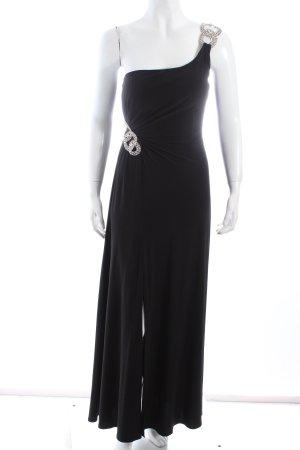 Luxuar Limited Vestido de un hombro negro elegante