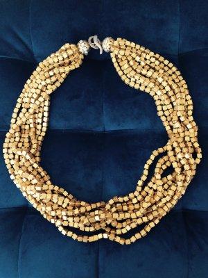 Luxuriöse Halskette * goldfarben * Strass