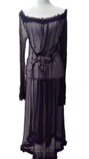 Alberta Ferretti Robe noir soie