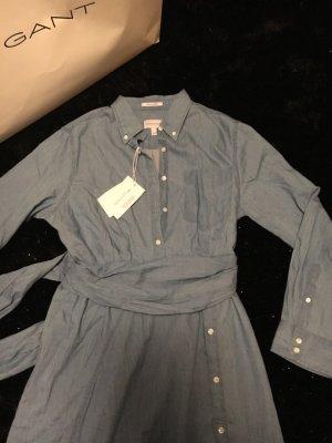 Luxury Indigo Hemdkleid aus 100% Baumwolle von Gant