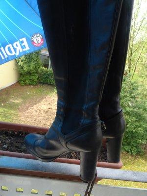 Luxury Sergio Rossi Black Leder Stiefel gr 39