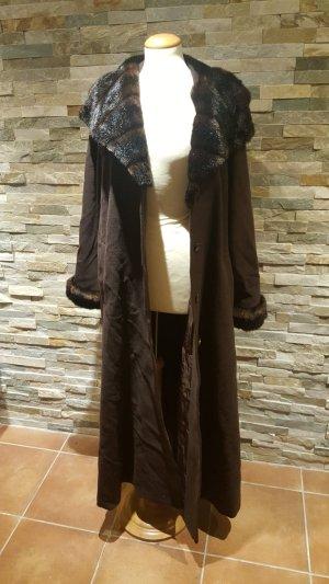 Wollen jas bruin-donkerbruin