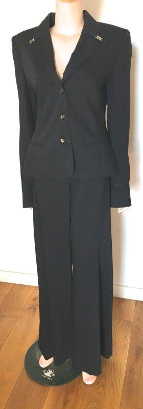 Escada Traje de pantalón negro lana de esquila
