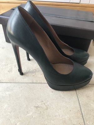 Luxus Alaia Leder Pumps Super High Heels Kim Kardashian