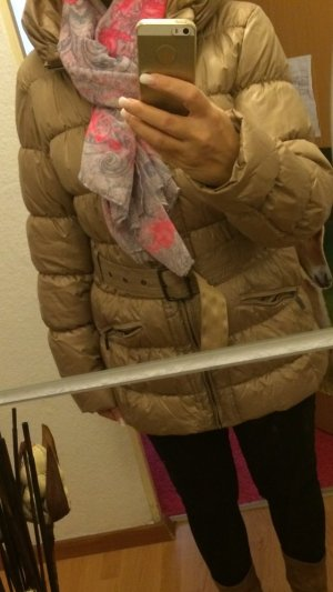 Luxus Amisu Jacke Gr 40 beige grosser kragen neu