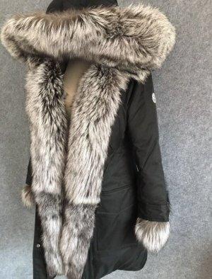 Luxus Brand Marken Winter Jacke VERTEUIL Fuchs Pelz Parka Mantel S M 36 38 40