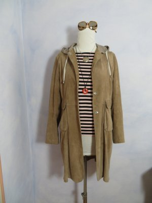 Brunello Cucinelli Leather Coat multicolored suede