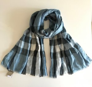 LUXUS - BURBERRY Schal Scarf Big Check - hellblau - NP 279 €