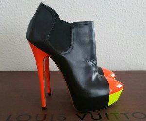 Luxus Casadei Neon Stiefelette Platform Boot Ibiza fluo