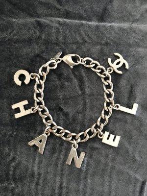LUXUS - CHANEL Bracelet Armband CC Logo - silberfarben