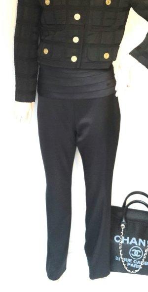 Luxus Chanel Highwaist Seidenhose Palazzohose ital Gr 40 / Gr 36 schwarz von Chanel