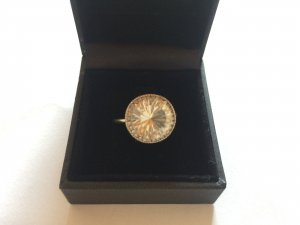 Gold Ring yellow-white stainless steel