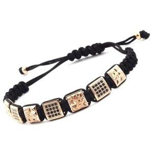 Luxus Design Armband in Gold und Schwarz